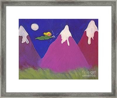 Purple Mountains Majesty Framed Print by Christine Crosby