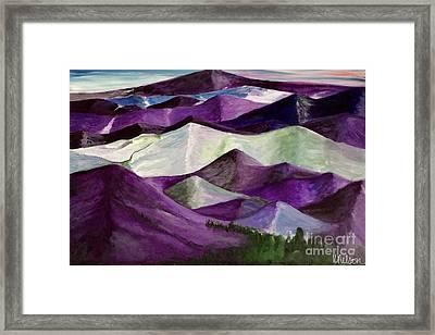 Purple Mountains Majesty Framed Print by Kim Nelson