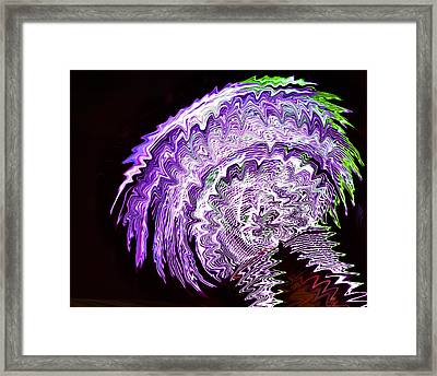 Framed Print featuring the photograph Purple Mushroom by Linda Constant