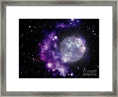 Purple Nebula Framed Print