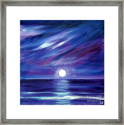 Purple Night Framed Print
