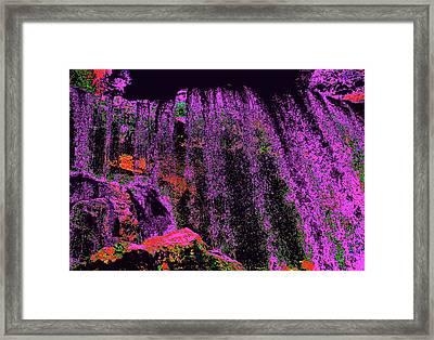 Purple Night Waterfall Framed Print