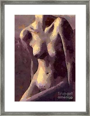 Purple Nude Framed Print