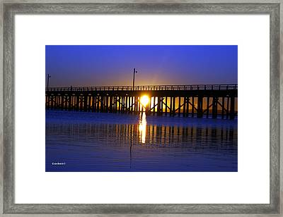 Purple Ocean Sunrise Framed Print