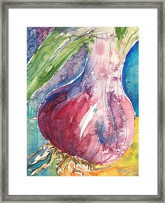 Purple Onion Framed Print