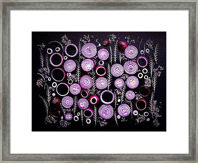 Purple Onion Patterns Framed Print