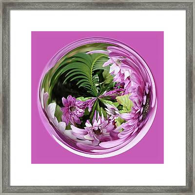 Framed Print featuring the photograph Purple Orb by Bill Barber