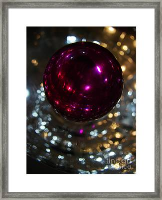 Purple Orb Framed Print by Mark Holbrook
