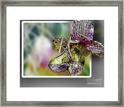 Purple Orchid Pop Framed Print