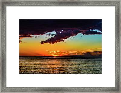 Purple Paints The Orange Framed Print