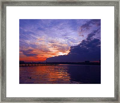 Purple Passion Skies Framed Print by Kendall Eutemey