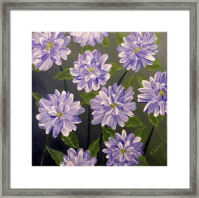 Purple Passion Framed Print by Teresa Wing