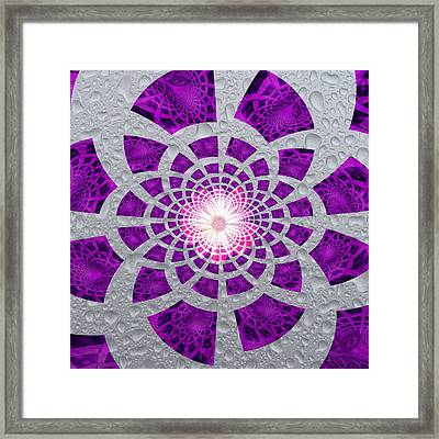 Framed Print featuring the digital art Purple Patched by Amanda Eberly-Kudamik