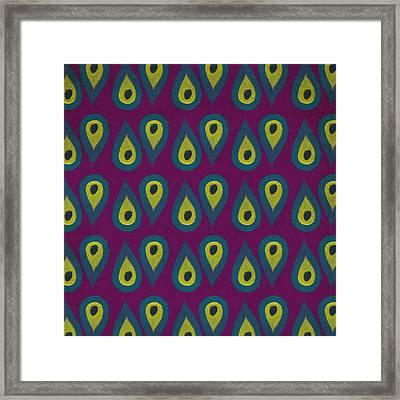 Purple Peackock Print  Framed Print by Linda Woods