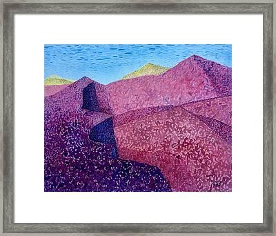 Purple Peak Framed Print by Vaughan Davies