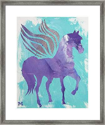 Purple Pegasus Framed Print