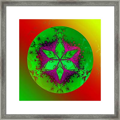 Purple Pentagram Framed Print by Brigita Tekavcic