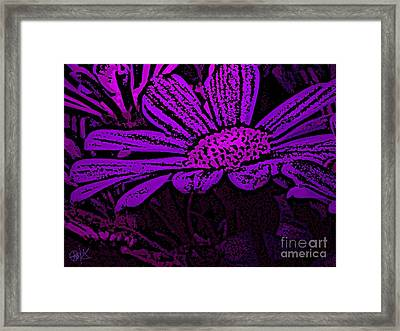 Purple Petals Framed Print