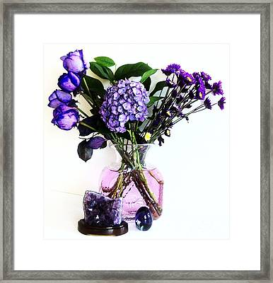 Purple Picture Perfect Framed Print by Marsha Heiken