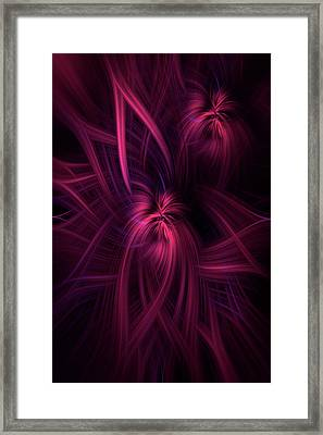 Purple Pink Abstract. Concept Potential Framed Print