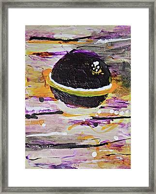 Purple Planet Framed Print