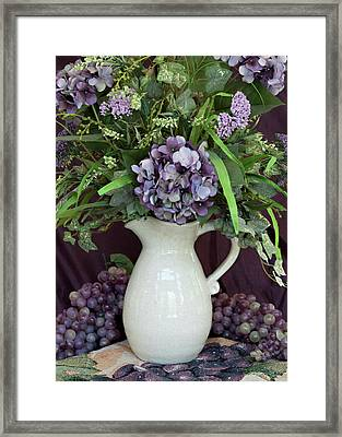 Framed Print featuring the photograph Purple Pleasures by Sherry Hallemeier