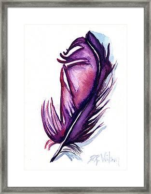 Purple Plume Framed Print by D Renee Wilson
