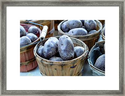 Purple Potatoes Framed Print by Teri Virbickis