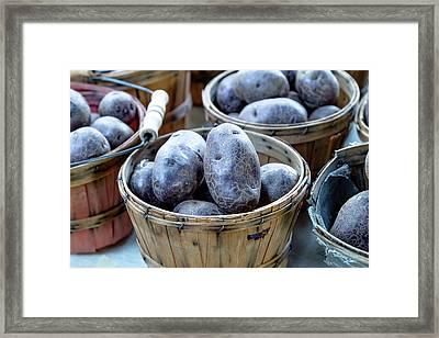 Purple Potatoes Framed Print