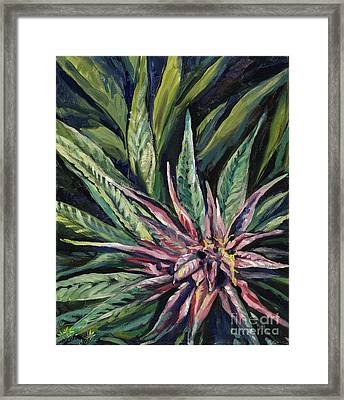 Purple Power Framed Print by Mary Jane