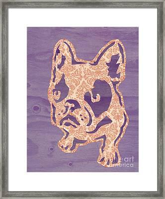 Purple Puppy Framed Print