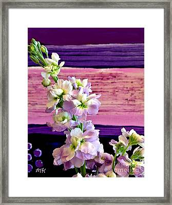 Purple Purple Everywhere Framed Print by Marsha Heiken