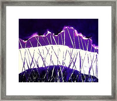 Purple Rain Abstract Framed Print by Marsha Heiken