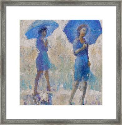 Framed Print featuring the painting Purple Rain by Gertrude Palmer