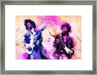 Purple Rain Meets Purple Haze Framed Print