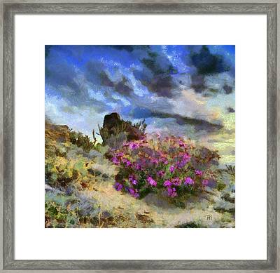 Purple Rain Framed Print by Russ Harris