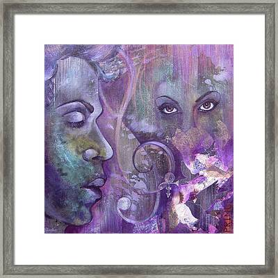Purple Rain Framed Print by Shadia Derbyshire