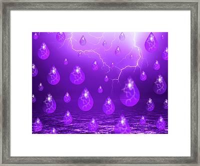 Purple Rain Framed Print by Shane Bechler