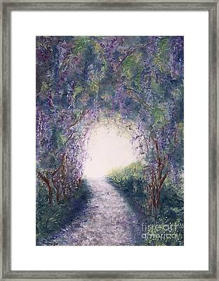 Framed Print featuring the painting Purple Rain by Stanza Widen