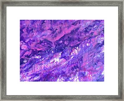 Purple Rain Framed Print