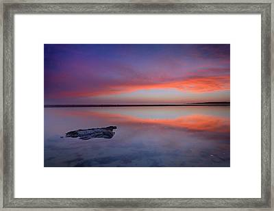 Purple Reflections At The Sea Framed Print