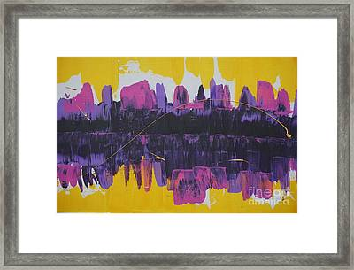 Purple Reflections Framed Print