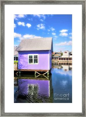 Framed Print featuring the photograph Purple Reflections by Mel Steinhauer