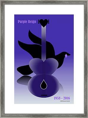 Purple Reign 1958-2016 Framed Print