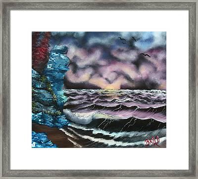 Purple Rising Framed Print by Barbara Teller