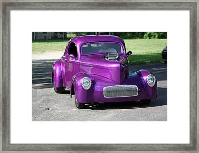 Purple Rod Framed Print by Jim Simms