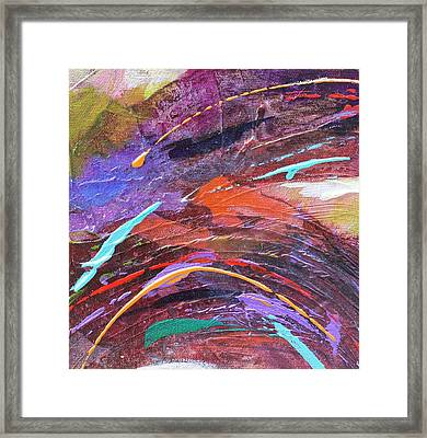 Purple Rush Framed Print