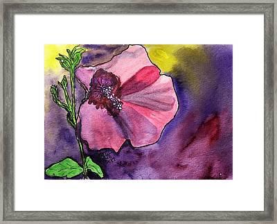 Purple Shadows Framed Print