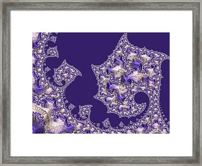 Purple Silk Framed Print by Susan Maxwell Schmidt