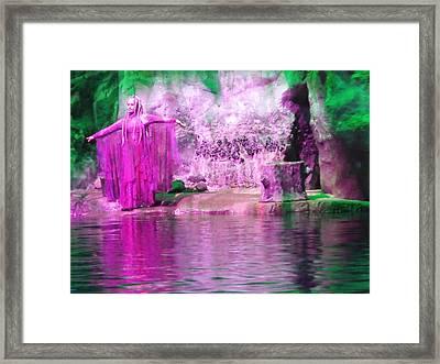 Purple Siren Framed Print by Anna Villarreal Garbis